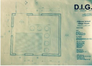 Floor plan drawings made with mentor architect Stephan Sun.