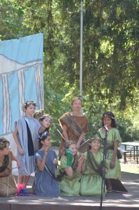 3rd graders bring Greek mythology to life in our amphitheater.